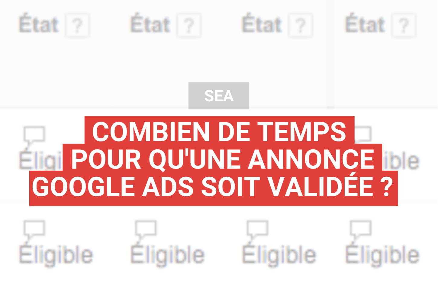 How long does it take to validate a Google Ad?